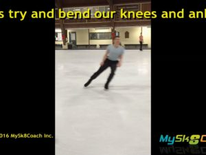 CrossOver Hop Exercise Knee Bend